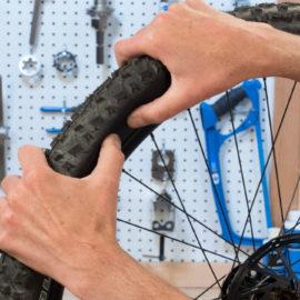 Ремонт шин велосипедов